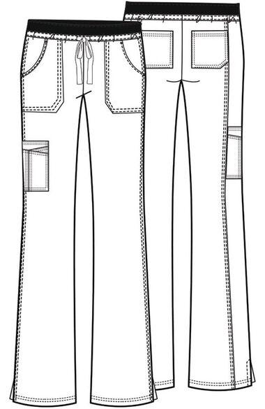 Women's Flare Leg Scrub Pant, , large