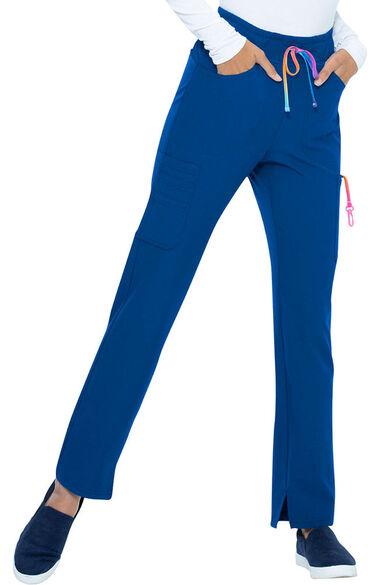 Women's Cropped Ombre Drawstring Scrub Pant, , large