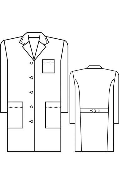 "Women's Princess-Back 37"" Lab Coat, , large"