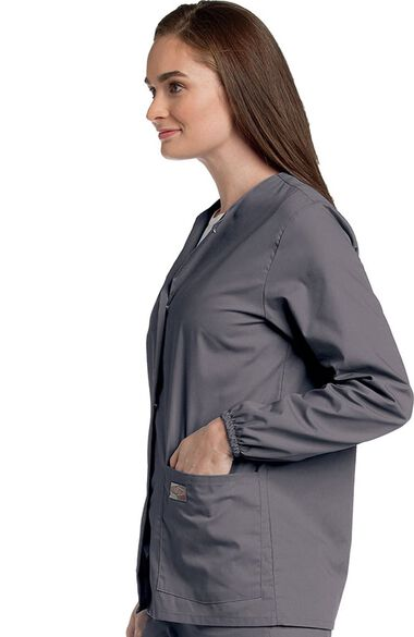 Women's Warm Up Solid Scrub Jacket, , large