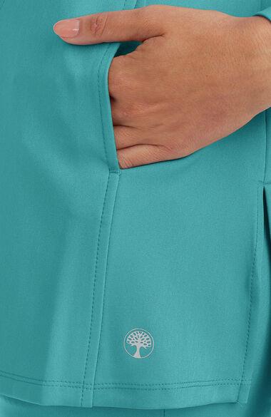 Women's Fatima Solid Scrub Top, , large