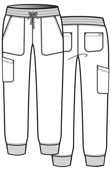 Women's Contrast Jogger Scrub Pant, , large