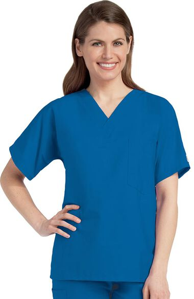 Clearance Unisex Solid Scrub Top, , large
