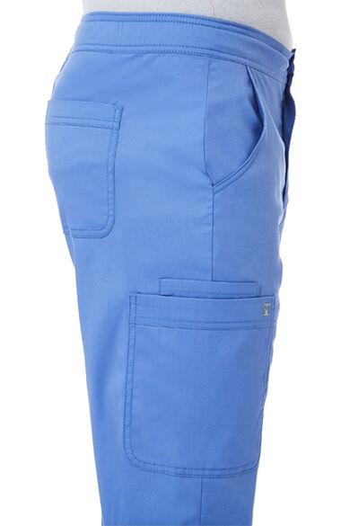 Men's Back Elastic Cargo Scrub Pant, , large