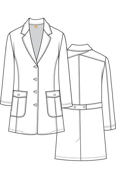 "Clearance Women's 34"" 2 Pocket Back Belted Lab Coat, , large"
