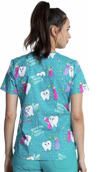 Women's My Main Squeeze Print Scrub Top, , large