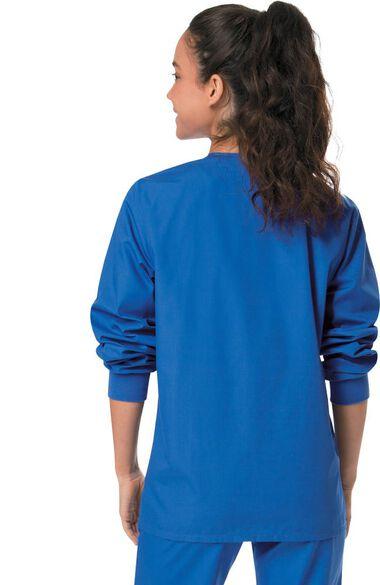 Unisex Snap Closure Solid Scrub Jacket, , large