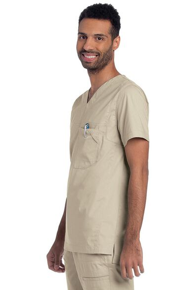 Clearance Men's V-Neck Ripstop Scrub Top, , large