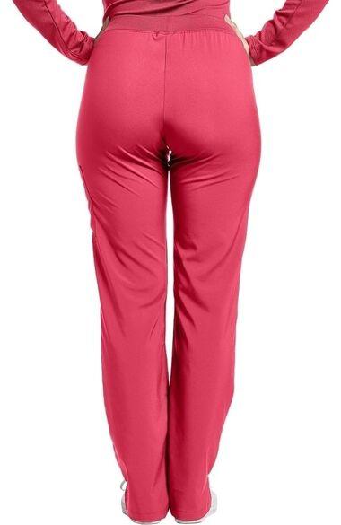 Clearance Women's Elastic Waistband Retro Side Stitch Scrub Pant, , large