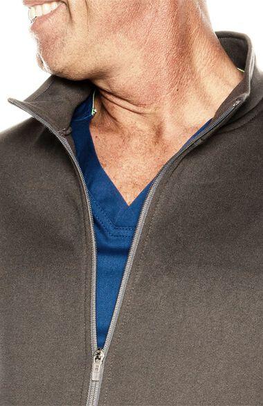 Men's Fleece Solid Scrub Jacket, , large