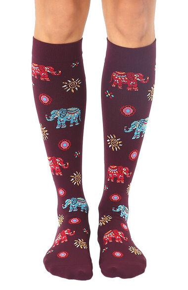 Unisex 15-20 Mmhg Lightweight Elephant Print Compression Socks, , large