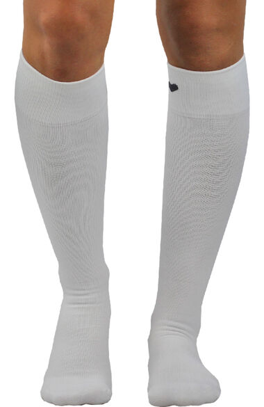 About The Nurse Unisex Knee High 20-30 MmHg White Solid Compression Sock, , large