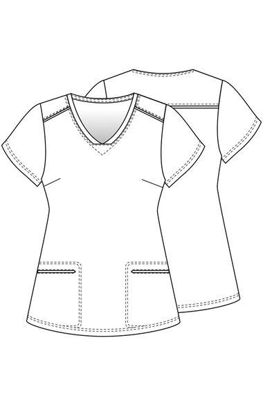 Women's Be Eeyore Print Scrub Top, , large
