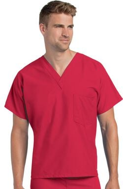 Unisex Reversible V-Neck Classic Fit Solid Scrub Top