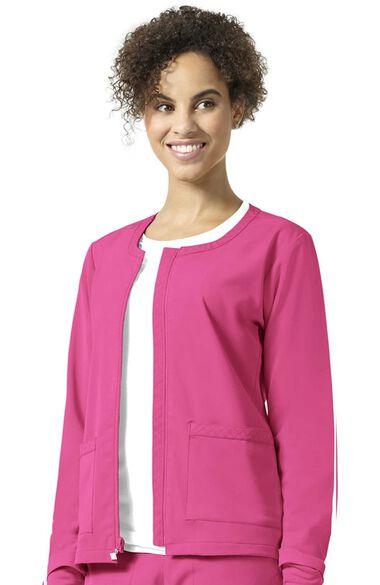 Clearance Women's Julia Solid Scrub Jacket, , large