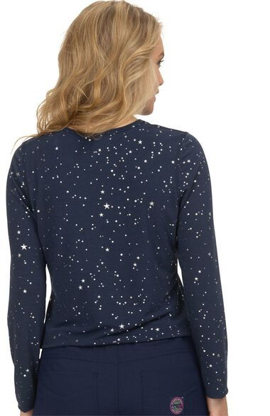 Clearance Women's Tessa Stars Print Underscrub T-Shirt, , large