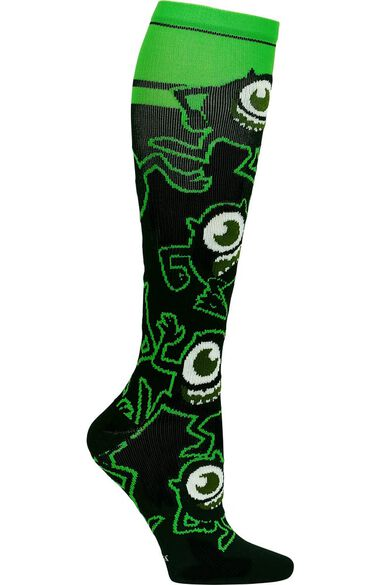 Women's 8-18 Mmhg I Believe In Monsters Print Compression Sock, , large