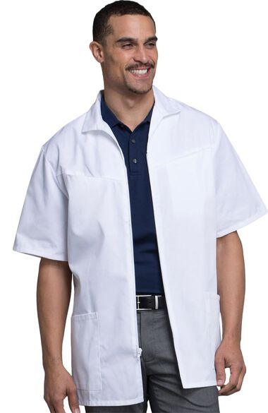 """Men's Med-Man Zip Front 32"""" Lab Coat, , large"""