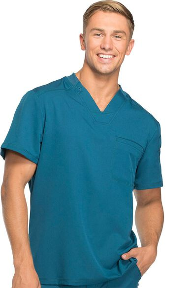 Men's V-Neck Solid Scrub Top, , large