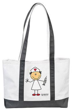 CLEARANCE Nurse Medical Tote Bag Heart Cross Bling