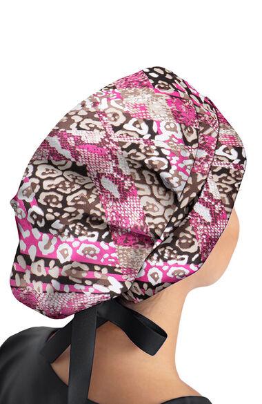Women's Sloan Let's Be Wild Print Bouffant Scrub Hat, , large