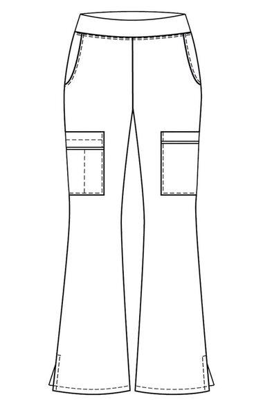 Women's Elastic Waist Yoga Scrub Pant, , large