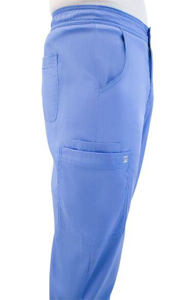 Men's Elastic Waistband Cargo Scrub Pant, , large