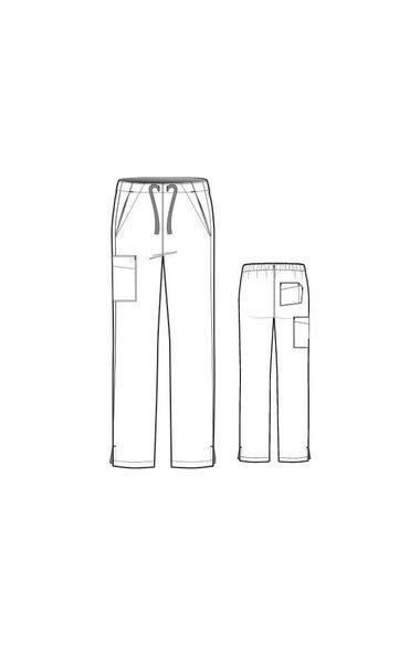 Women's Flat Front Drawstring Scrub Pant, , large