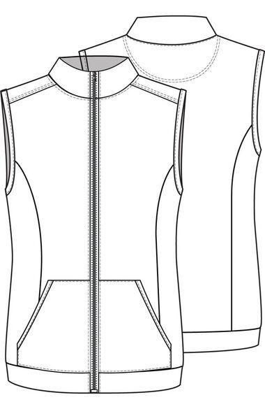 Women's Knit Solid Scrub Vest, , large