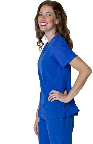 Women's Miracle Solid Scrub Top, , large