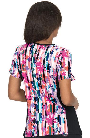 Women's Raquel Candy Striper Print Scrub Top, , large