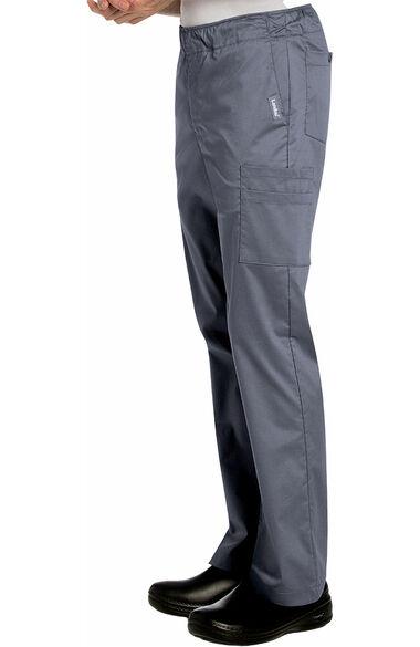 Stretch Men's by Elastic Waist Cargo Scrub Pant, , large