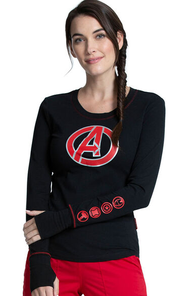Women's Avengers Hero Print Underscrub, , large