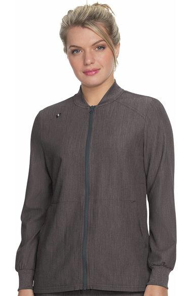 Women's Always In Motion Solid Scrub Jacket, , large