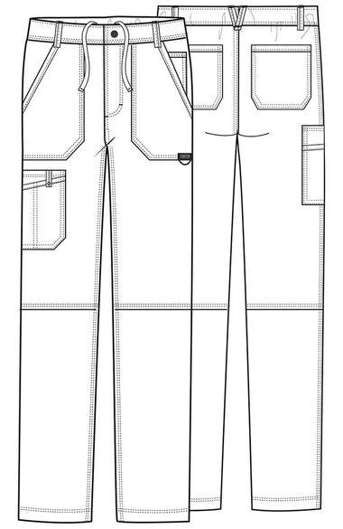 Men's Zip Fly Cargo Scrub Pant, , large