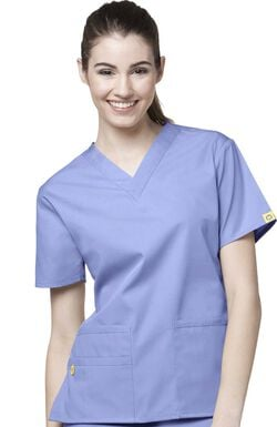 Women's Bravo Lady Fit V-Neck Solid Scrub Top