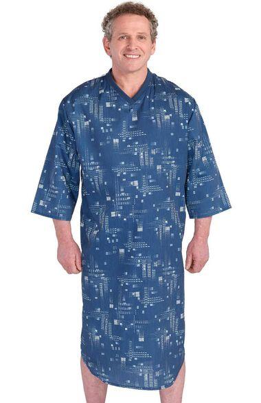 Silvert's Men's Adaptive Geo Print Patient Gown, , large