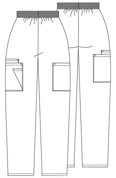 Women's Patch Pocket Cargo Scrub Pants, , large
