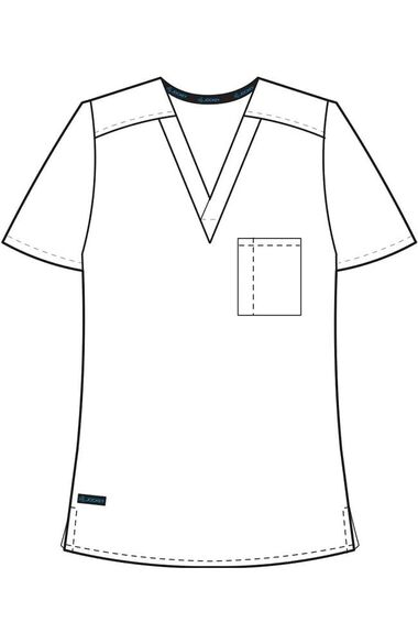 Unisex 1 Pocket Tri Blend Solid Scrub Top, , large