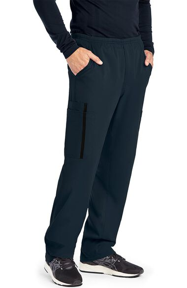 iMPACT by Grey's Anatomy Men's Zip Fly Double Cargo Scrub Pant, , large