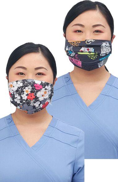 Clearance FINAL SALE Women's Reversible Sweet Flow Purramedics Print Face Mask, , large