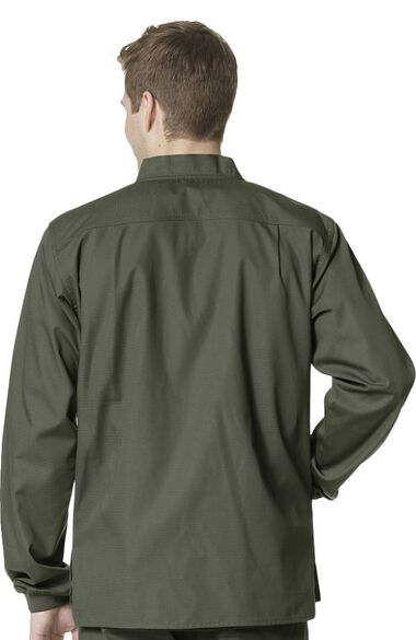 Clearance Men's Zip Front Scrub Jacket, , large