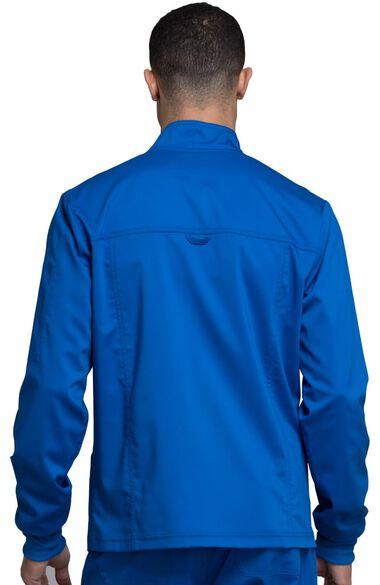 Men's Zip Up Solid Scrub Jacket, , large