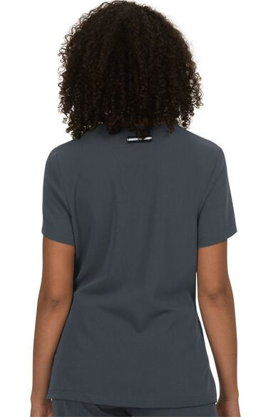 Women's Back In Action Solid Scrub Top, , large
