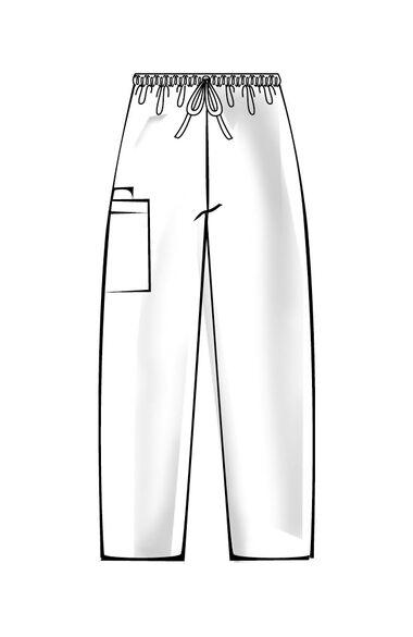 Unisex Drawstring with Cargo Pocket Scrub Pants, , large