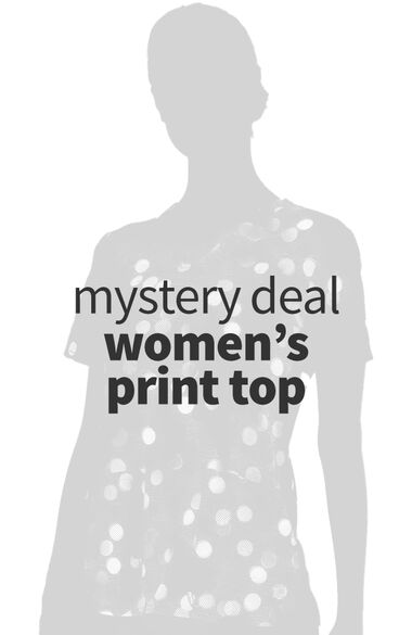 Women's Print Scrub Top, , large