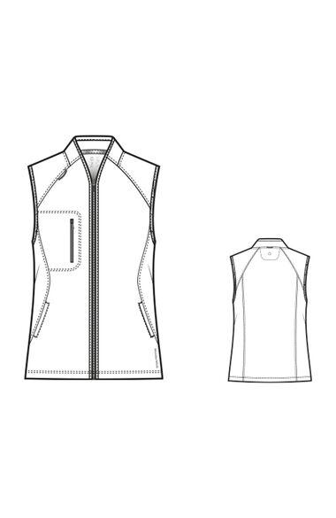 Women's Solid Scrub Vest, , large