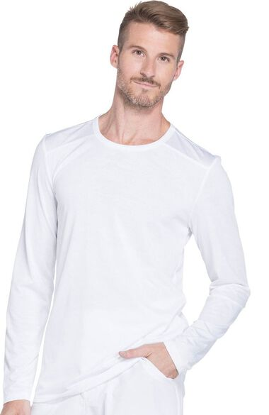 Clearance Men's Long Sleeve Solid Underscrub T-Shirt, , large