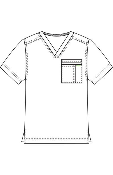 Men's Solid Scrub Top, , large