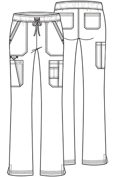 Clearance Women's Boot Cut Drawstring Scrub Pant, , large
